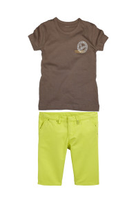 стильные бермуды + футболка для мальчика