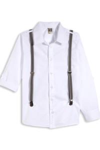 Рубашка белая с подтяжками для мальчика